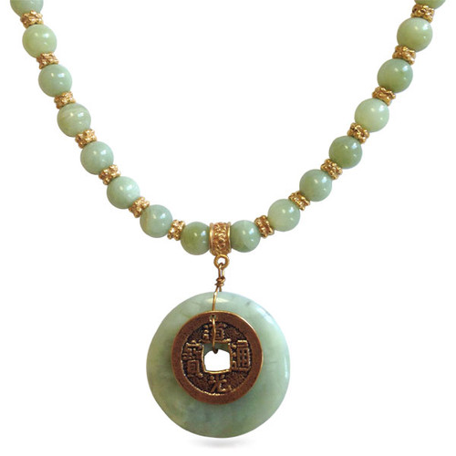Jade Bi-Disc Necklace - Museum Shop Collection - Museum Company Photo