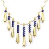 Petal Drop Necklace with Lapis - Museum Shop Collection - Museum Company Photo