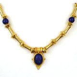 "Egyptian Revival Necklace w/Lapis 18"" - Museum Shop Collection - Museum Company Photo"