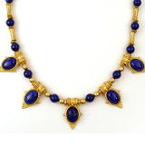 "Egyptian Revival Necklace w/Lapis 20"" - Museum Shop Collection - Museum Company Photo"