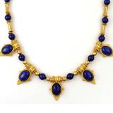"Egyptian Revival Necklace w/Lapis 20"" - Museum Shop Collection - Museum Company Photo"