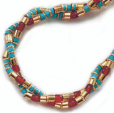 Thebes Double Strand with Turquoise Necklace - Museum Shop Collection - Museum Company Photo