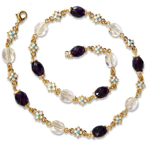 Elizabethan Amethyst & Crystal Necklace - Museum Shop Collection - Museum Company Photo