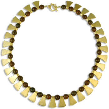 Axe Shape Necklace with Jasper - Museum Shop Collection - Museum Company Photo