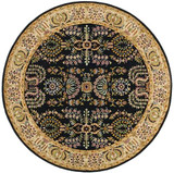 Sarouk - Black / Beige Rug : Persian Tufted Collection - Photo Museum Store Company