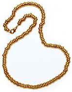 """Annular Gold Bead Necklace, 18"""" - Museum Shop Collection - Museum Company Photo"""