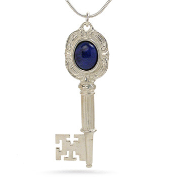 Centennial Key Pendant with Lapis, sterling silver - Museum Shop Collection - Museum Company Photo