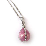 Egg in a Jeweled Cage Pendant and Chain - Museum Shop Collection - Museum Company Photo