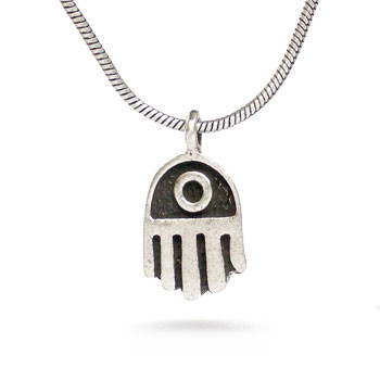 Hamsa Hand Pendant-silver finish - Museum Shop Collection - Museum Company Photo