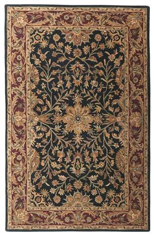 Regal - Black / Burgundy Rug : Persian Tufted Collection - Photo Museum Store Company