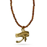 Eye of Horus on Petit Carnelian beads - Museum Shop Collection - Museum Company Photo