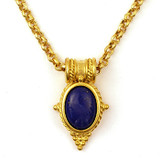 Egyptian Revival Pendant w/Lapis - Museum Shop Collection - Museum Company Photo