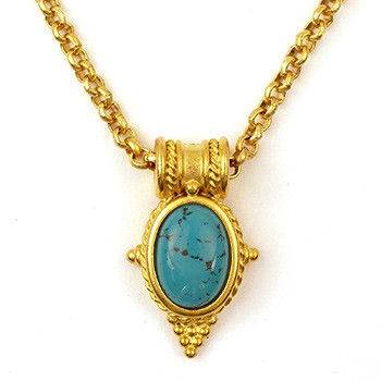Egyptian Revival Pendant w/Turquoise - Museum Shop Collection - Museum Company Photo