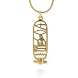 """I Love You"" Cartouche Pendant, gold finish - Museum Shop Collection - Museum Company Photo"
