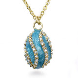 Teal Spiral Egg Pendant - Museum Shop Collection - Museum Company Photo
