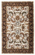 Isphan - Ivory / Wine Rug : Persian Tufted Collection - Photo Museum Store Company
