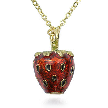 Strawberry Egg Pendant - Museum Shop Collection - Museum Company Photo