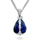 Jeweled Blue Egg Pendant - Museum Shop Collection - Museum Company Photo