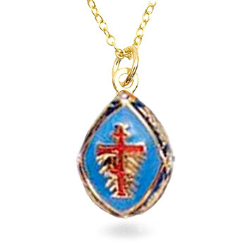 Russian Orthodox Cross Egg Pendant - Museum Shop Collection - Museum Company Photo