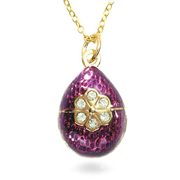 Imperial Purple Rose Egg Pendant - Museum Shop Collection - Museum Company Photo