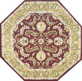 Kashan - Red / Gold Rug : Persian Tufted Collection - Photo Museum Store Company