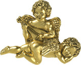 Two angels playing the lyre brooch - Museum Shop Collection - Museum Company Photo