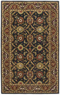 Morris - Black/ Burgundy Rug : Persian Tufted Collection - Photo Museum Store Company