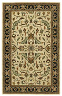 Patina - Beige / Black Rug : Persian Tufted Collection - Photo Museum Store Company
