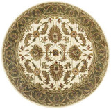 Devotion - Beige / Sage Rug : Persian Tufted Collection - Photo Museum Store Company