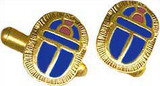 Egyptian Scarab cufflinks, blue - Museum Shop Collection - Museum Company Photo
