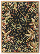 Loire - Black / Gold Rug : Persian Tufted Collection - Photo Museum Store Company