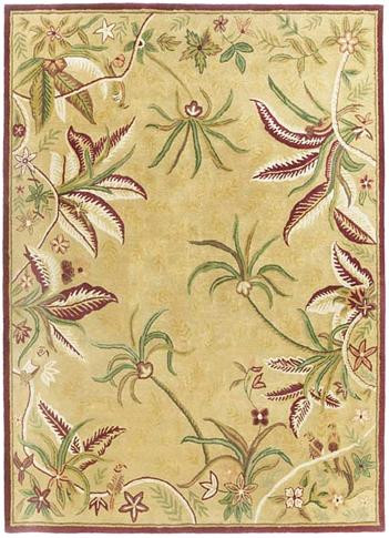 Loire - Beige / Burgundy Rug : Persian Tufted Collection - Photo Museum Store Company
