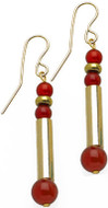 Egyptian earrings with Carnelian - Museum Shop Collection - Museum Company Photo
