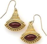 Egyptian Lotus earrings, Garnet - Museum Shop Collection - Museum Company Photo