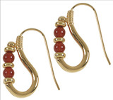 Egyptian Ptolemaic earrings with Carnelian - Museum Shop Collection - Museum Company Photo
