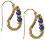 Egyptian Ptolemaic earrings with Lapis - Museum Shop Collection - Museum Company Photo
