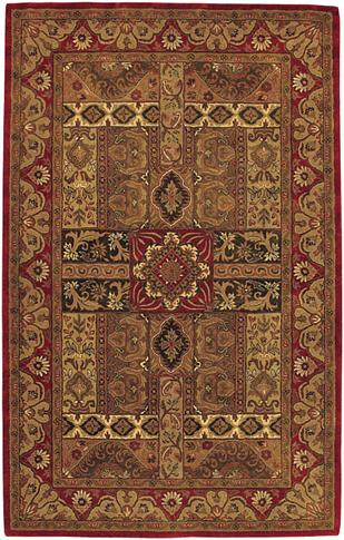 Ashton - Brick / Burgundy Rug : Persian Tufted Collection - Photo Museum Store Company