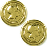Athena coin post-earrings - Museum Shop Collection - Museum Company Photo