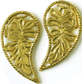 Byzantine Leaf post earrings - Museum Shop Collection - Museum Company Photo