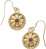 Greek disk earrings with Garnet - Museum Shop Collection - Museum Company Photo