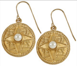 Roman earrings with faux-pearls - Museum Shop Collection - Museum Company Photo