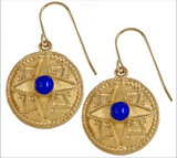 Roman earrings with Lapis - Museum Shop Collection - Museum Company Photo