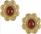 Turkmen clip earrings, Carnelian - Museum Shop Collection - Museum Company Photo