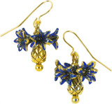 Faberge inspired Cornflower  earrings - Museum Shop Collection - Museum Company Photo