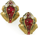 Frog clip earrings, red - Museum Shop Collection - Museum Company Photo