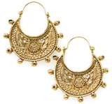 2-Sided Byzantine Crescent filigree earrings - Museum Shop Collection - Museum Company Photo