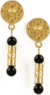 Pre Columbian Tolima Roller Seal earrings, black Onyx - Museum Shop Collection - Museum Company Photo