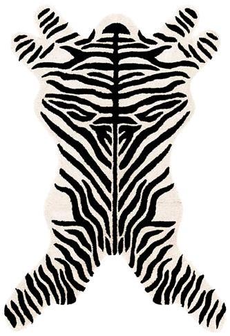 Zebra Design Rug : Contemporary Tufted Collection - Photo Museum Store Company