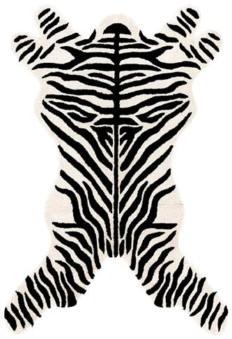 Zebra Design Rug : Contemporary Tufted Collection - Photo Museum Store Company