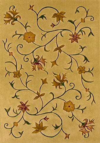 Autumn - Tan / Gold Rug : Contemporary Tufted Collection - Photo Museum Store Company